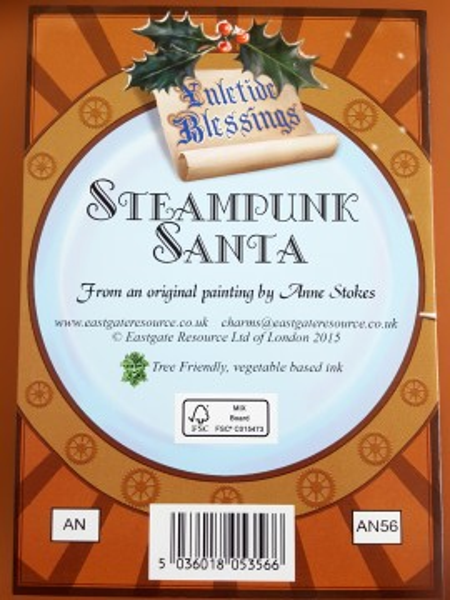 Felicitare Crăciun Moș Crăciun Steampunk