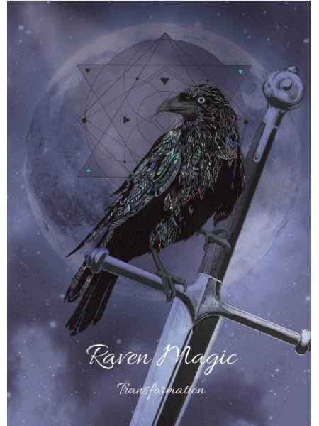 Felicitare Raven Magic - pentru transformare