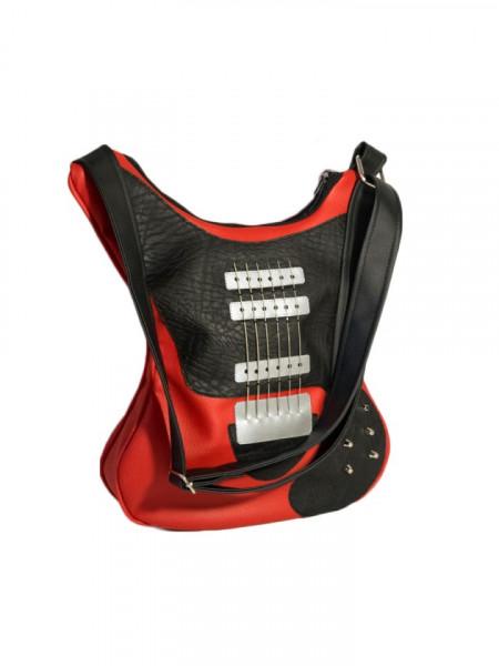 Geanta in forma de chitara rock Old Red Lady