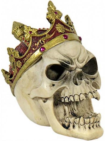 Statueta craniu Rege 10cm