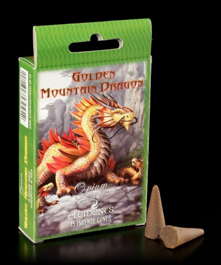 Conuri de tamaie Golden Mountain Dragon, Anne Stokes, Opium