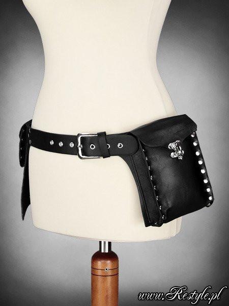 Curea cu buzunare, piele ecologica cu elemente metalice, Pocket Belt