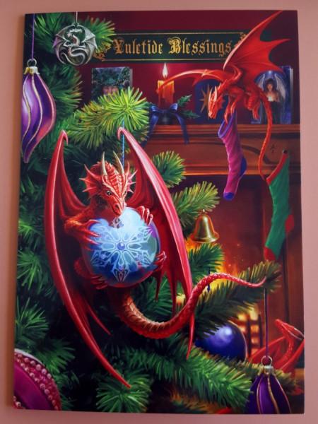 Felicitare Crăciun Dragonei harnici