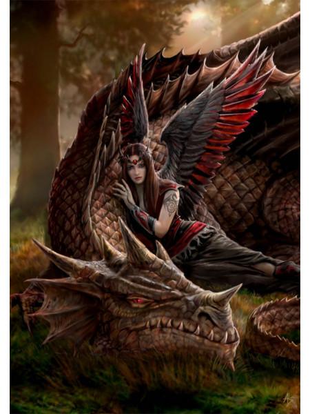 Felicitare zână și dragon Prieteni înaripați