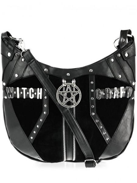 Geanta gotica cu accesorii metalice Witchcraft