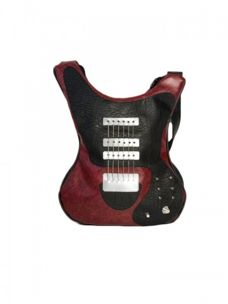 Geanta in forma de chitara rock Cherry Red