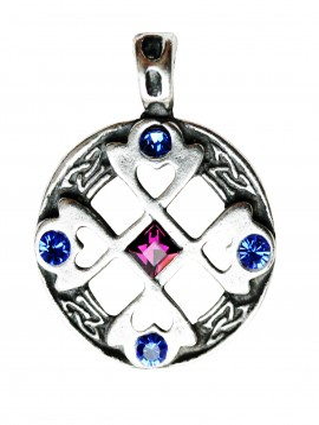 Pandantiv viking Cruce celtică cu inimi
