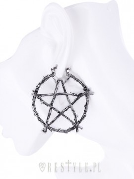 Cercei gotici Pentagrama din crengi