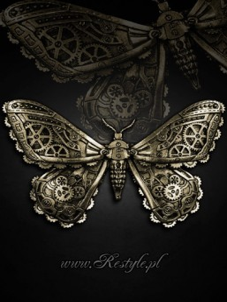 Clamă de păr gotică steampunk Mechanical Moth