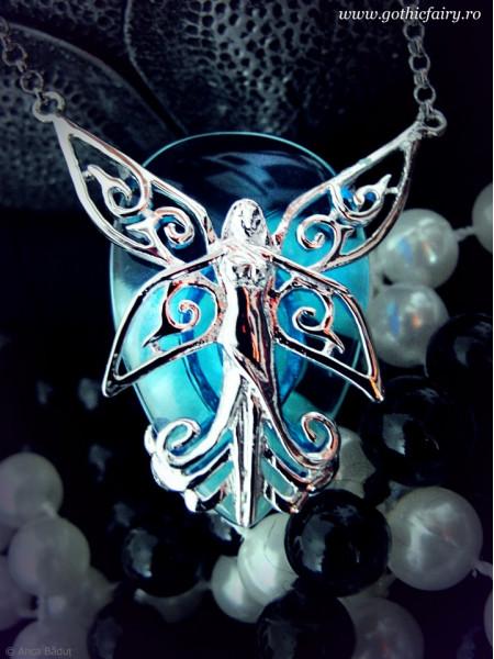 Pandantiv cristal turcoaz zâna Poesy