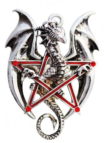 Pandantiv dragon în pentagramă Pentadraca