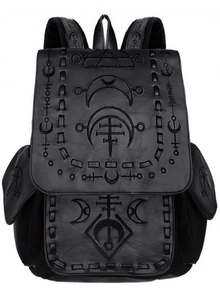Rucsac gotic Runic Moon - negru