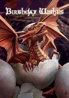 Felicitare dragon Birthling