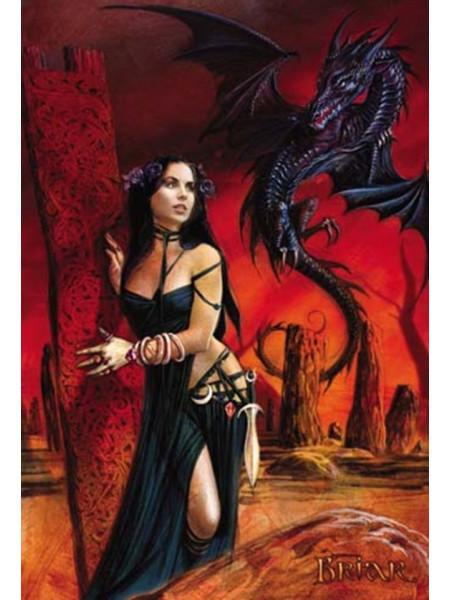 Felicitare zână și dragon Bride of the Sabbat