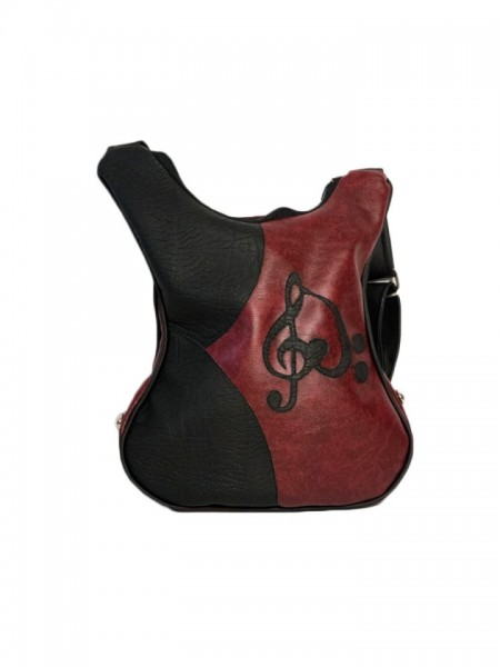 Geanta in forma de chitara rock Cherry Red Fiamma