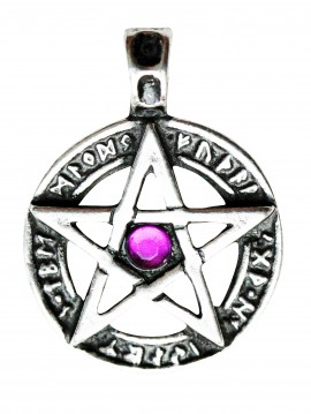 Pandantiv viking Pentagramă cu rune