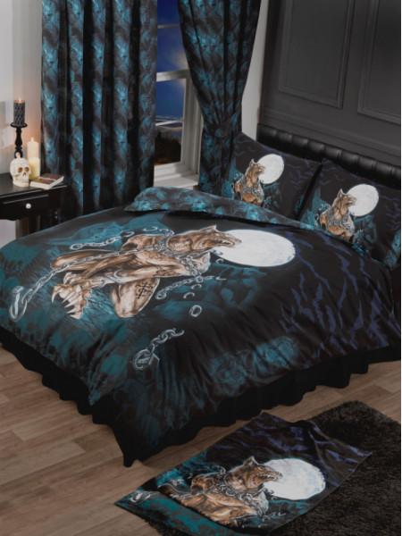 Set lenjerie de pat din bumbac si poliester, varcolac - Alchemy Loups Garou, 200x200 cm