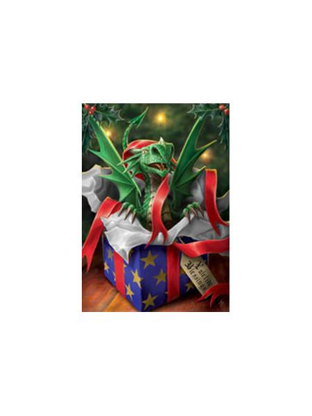 Felicitare Crăciun cu dragonel Cadoul Surpriza