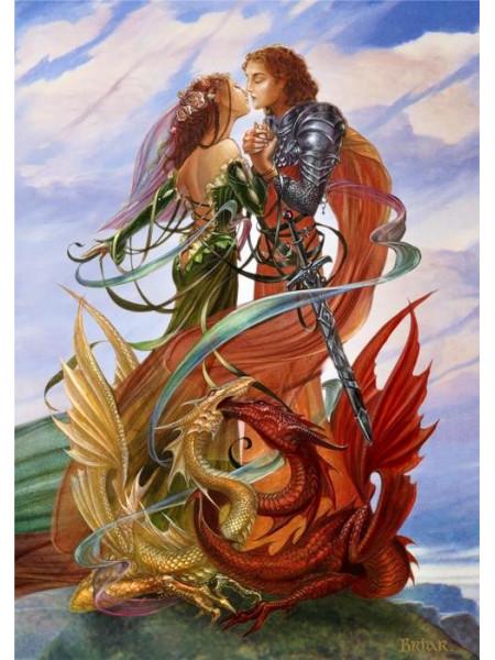 Felicitare medievală Logodna dragonilor