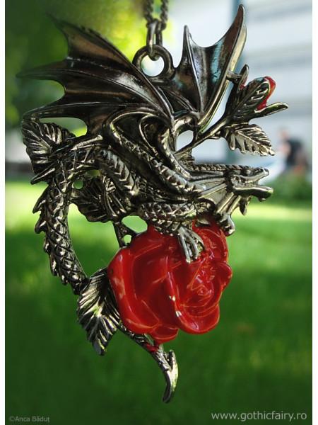 Pandantiv dragon Draca Rosa