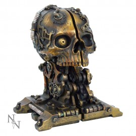 Poze Suport lateral de cărți - book end - Craniu Steampunk