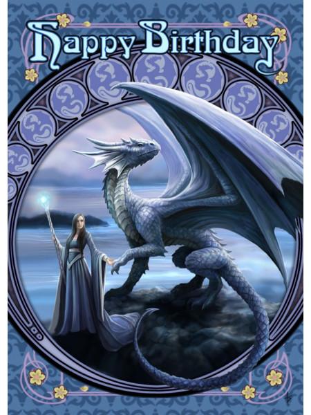 Felicitare zână și dragon Orizonturi noi