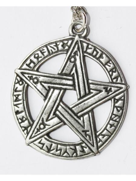 Pandantiv celtic Pentagramă cu rune