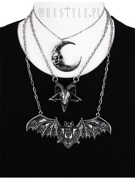 Pandantiv gotic argintiu Liliac dantelat