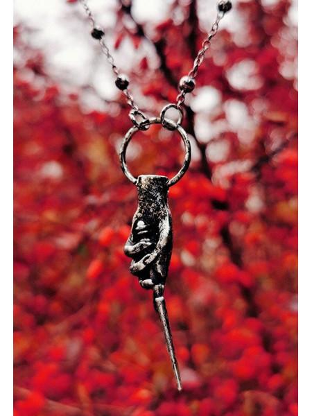 Pandantiv gotic Bagheta Magica - argintiu