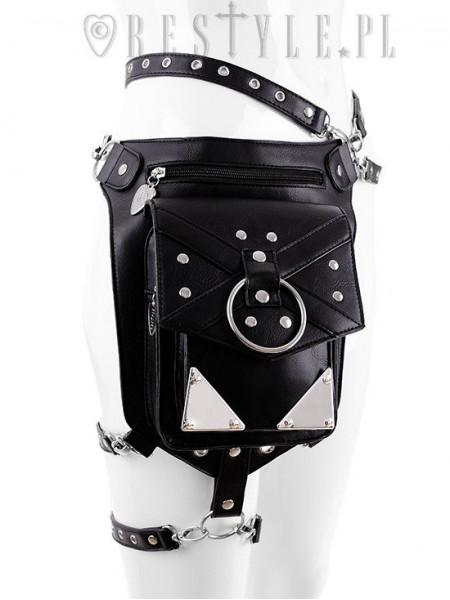 Gentuta/ Borseta gotica, cu accesorii metalice, X Straps