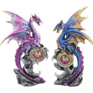 Set 2 statuete dragoni Protectorii taramului 15 cm