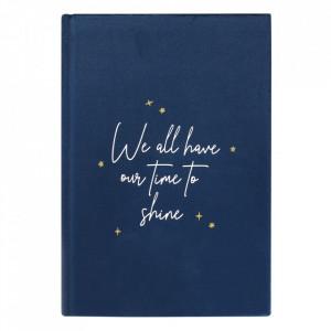 Agenda / Jurnal cu coperta de catifea albastra Constelatie