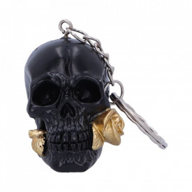 Black Rose from the Dead Keyring 4.3cm