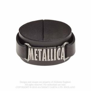 Bratara piele Metallica
