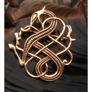 Brosa bronz Dragon Medieval