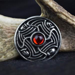 Brosa disc vikinga Lofotr - rosu