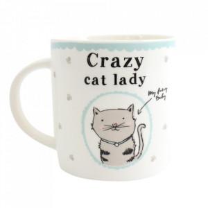 Cana ceramica Femeie nebuna cu pisici