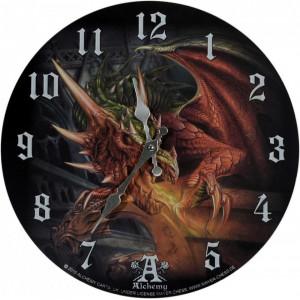 Ceas de perete din lemn Draco Basilika - Alchemy 34cm