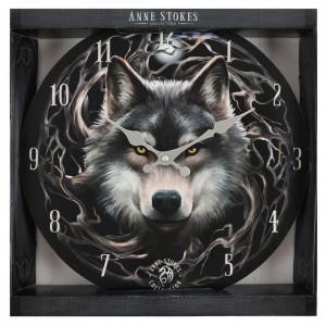 Ceas de perete din lemn Night Forest - Anne Stokes