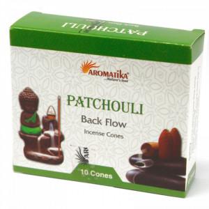 Conuri parfumate backflow Aromatika - Patchouli