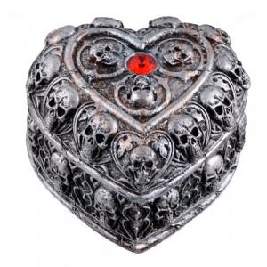 Cutie pentru bijuterii gotica Inima ranita 9cm