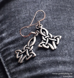 "etNox - earrings ""Celtic Knot"" 925 silver"