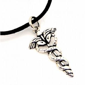"""etNox-pendant """"Caduceus"""" 925 silver"""