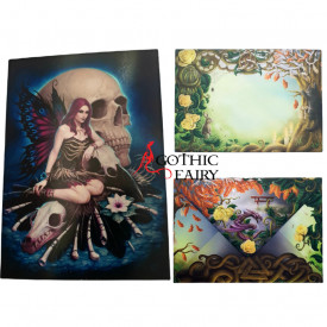 Felicitare zana gotica si craniu Bone Fairy - James Ryman