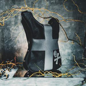 Guitar-shaped Goth Bag