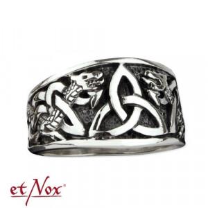 Inel argint Nod Celtic cu dragoni