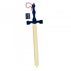 Jucarie - Sabie lemn Excalibur cu maner albastru 56cm