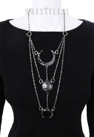 Moon Phases Silver Necklace