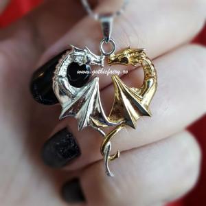 Pandantiv argint Inima de dragon - Anne Stokes
