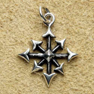 Pandantiv argint Pentagrama Haosului Chaosagram